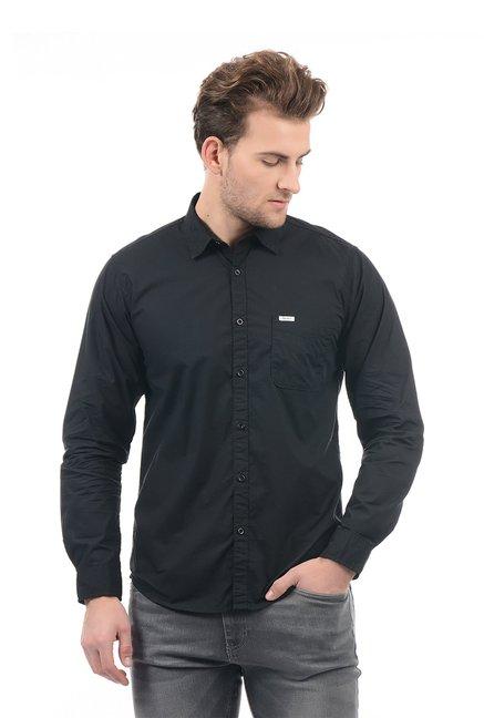 Buy Pepe Jeans Black Cotton Solid Shirt for Men Online