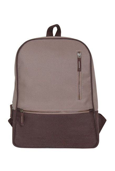 335c291e388b Buy Mohawk Brown Solid Fabric Laptop Backpack Online At Best ...