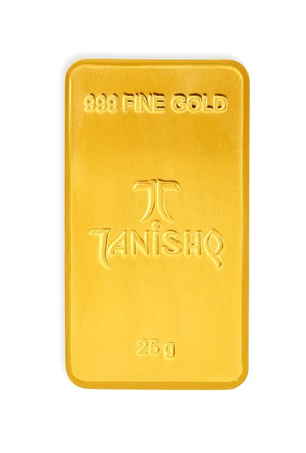 Tanishq 24k 999 25gm Gold Bar From Tanishq At Best Prices On Tata Cliq