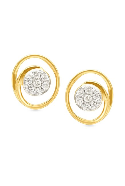 Tanishq 18k Gold Diamond Earrings