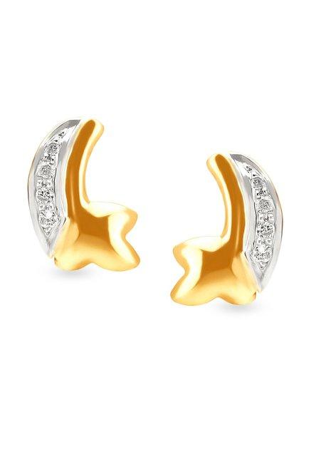 Tanishq 18k Gold   Diamond Earrings
