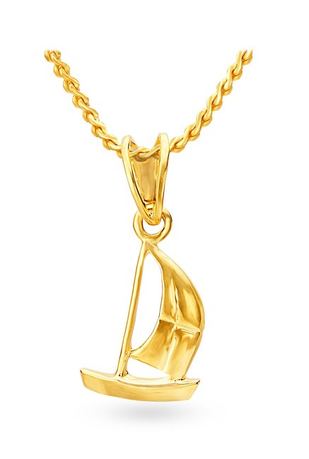 Tanishq Sailboat 22KT Gold Pendant