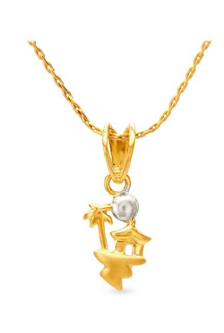 Tanishq Isl 22KT Gold Pendant