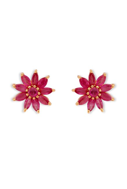 Tanishq Floral 22kt Gold Earrings