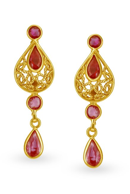Tanishq 22kt Gold Earrings