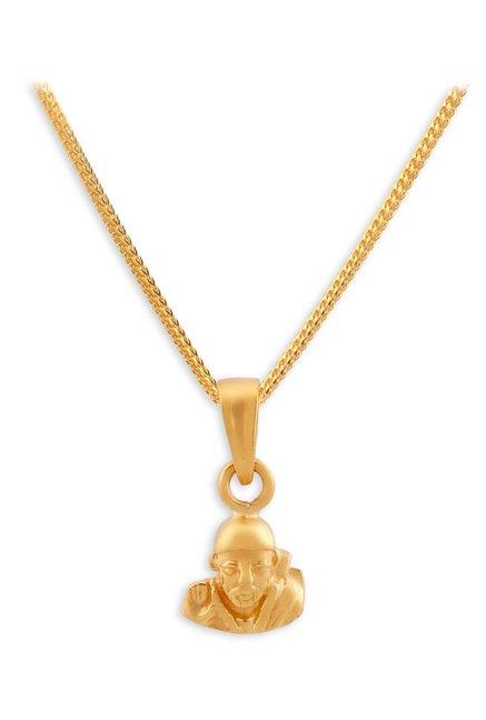 Buy Tanishq Sai Baba 22k Gold Pendant Online At Best Price
