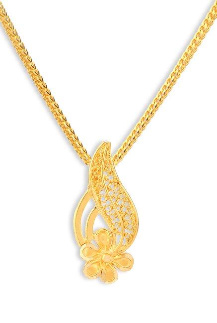 Tanishq Floral 22k Gold Pendant