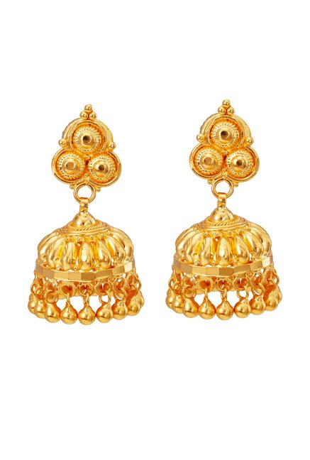 Tanishq Jhumka 22k Gold Earrings Online At Best Price