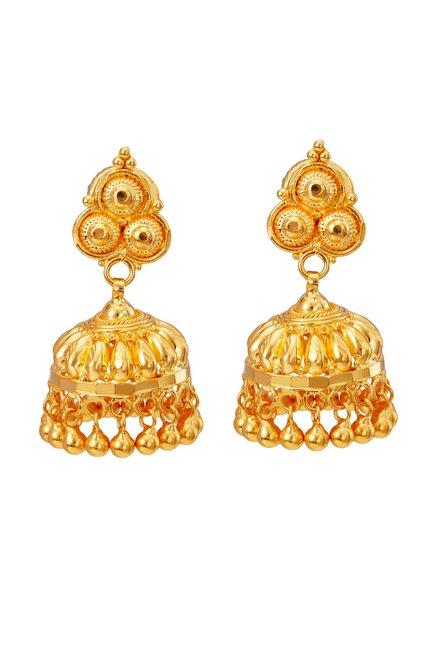 e91952c59c5cc Buy Tanishq Jhumka 22k Gold Earrings Online At Best Price @ Tata CLiQ