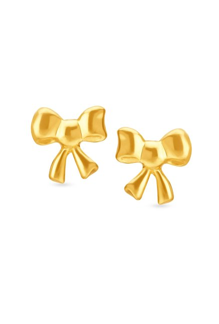 Tanishq Bow Shaped 22kt Gold Earrings Online At Best