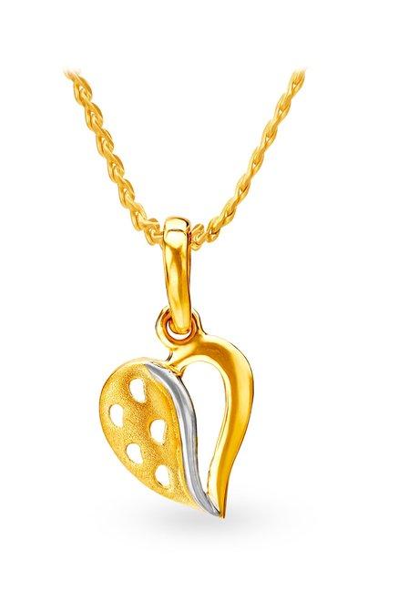 Tanishq Heart 22k Gold Pendant
