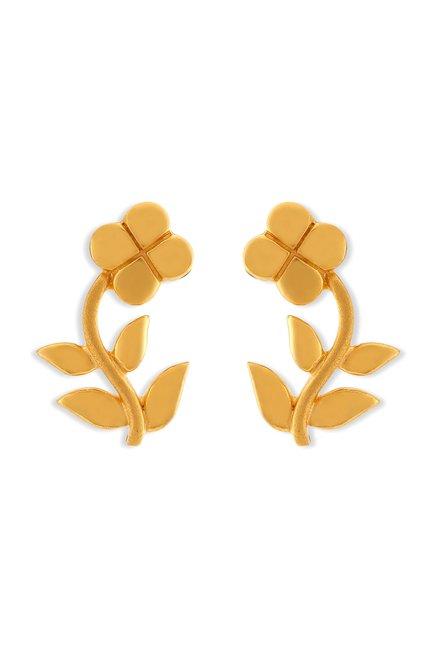 Tanishq Fl 22k Gold Earrings