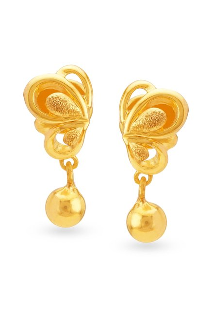 Tanishq Erfly 22k Gold Earrings
