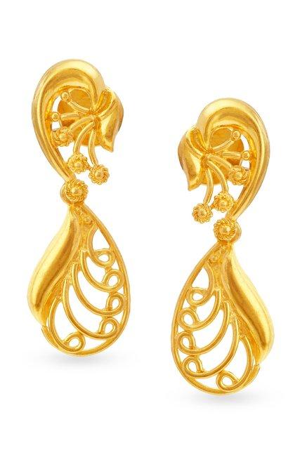 Tanishq 22k Gold Earrings Online At Best Price Tata Cliq