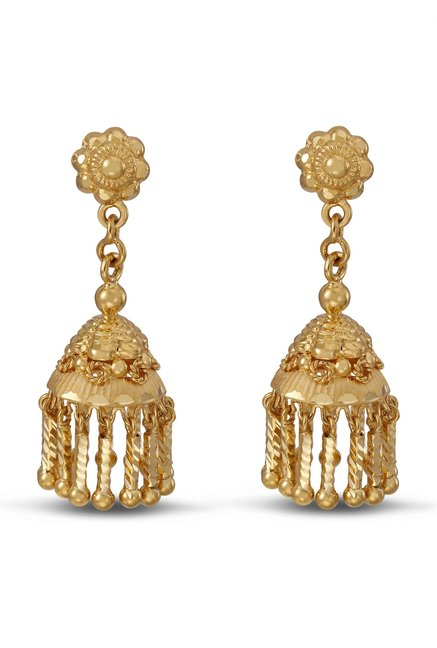 Tanishq Jhumkha 22k Gold Earrings