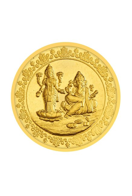 Buy Tanishq Goddess Lakshmi Lord Ganesha 24k 999 8g Gold Coin