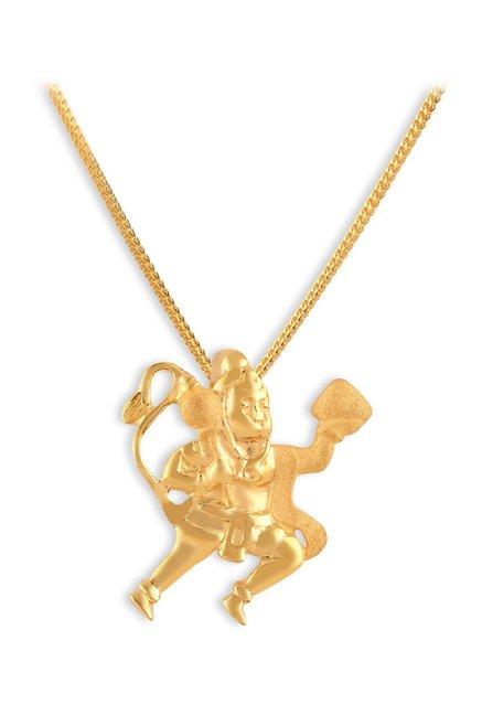 Tanishq Hanuman 22k Gold Pendant