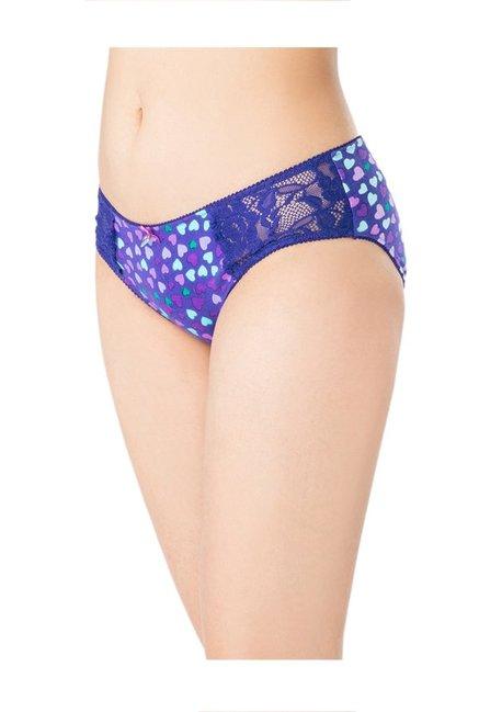 324ae518999 Buy PrettySecrets Purple Heart Print Cotton Hipster Panty for Women ...