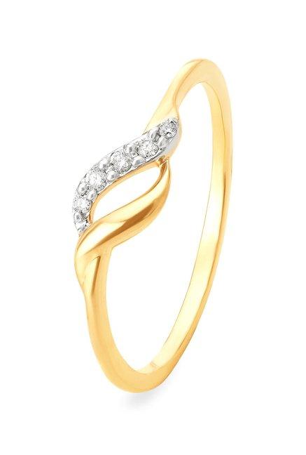 Tanishq Navette 18kt Gold Diamond Ring