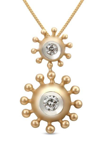 Buy mia by tanishq oval 14k gold diamond pendant online at best mia by tanishq oval 14k gold diamond pendant aloadofball Choice Image