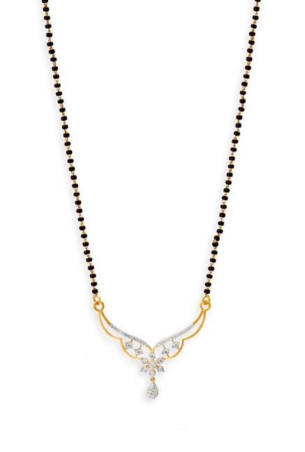 Tanishq Swarnam 18kt Gold   Diamond Mangalsutra