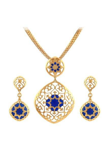 Buy tanishq 22 kt gold pendant earring set online at best price tanishq 22 kt gold pendant earring set aloadofball Gallery