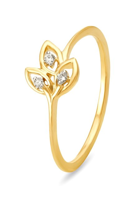 diamond engagement from finger yellow mia by rings ring jewellery gold tanishq
