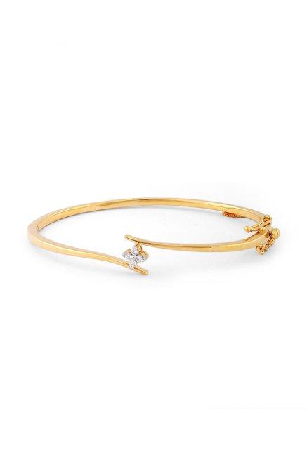Tanishq 18kt Gold   Diamond Bangle