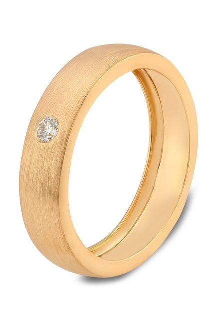 Buy Tanishq 18kt Gold Diamond Ring Online At Best Price Tata Cliq