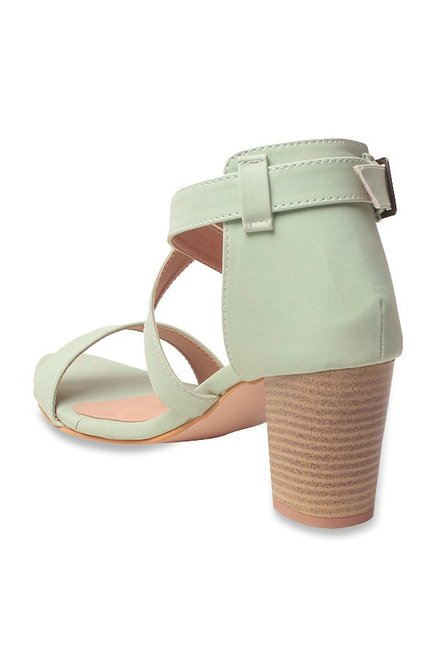 2f0a3392e825 Buy GNIST Tea Green Cross Strap Sandals for Women at Best Price ...