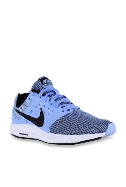 0301ff2ff7b Buy Nike Downshifter 7 Sky Blue Running Shoes for Women at Best ...