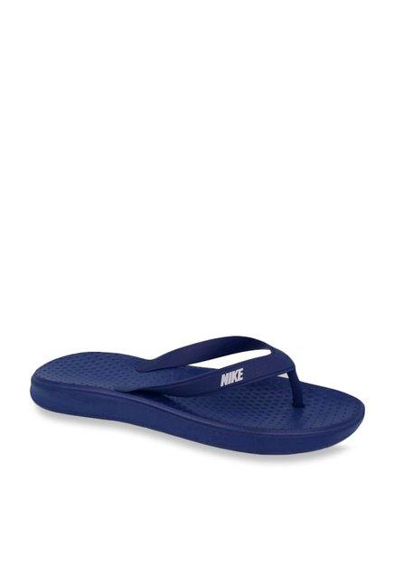 611f68fc1979 Buy Nike Solay Navy Flip Flops for Men at Best Price   Tata CLiQ