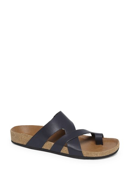 2b55460471f Buy SOLEPLAY by Westside Navy Faux Leather Sandals For Men Online At Tata  CLiQ