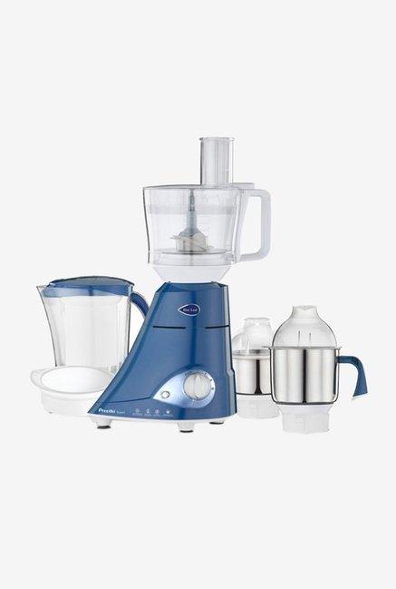 Preethi MG-214 750 W Leaf Expert Juicer Mixer Grinder Blue, (4 Jars)
