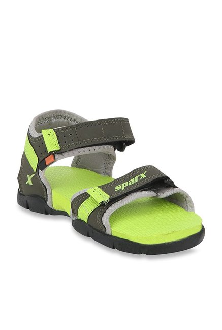 f8acdcb0d3e Buy Sparx Kids Olive   Fluorescent Green Floater Sandals for Boys at ...