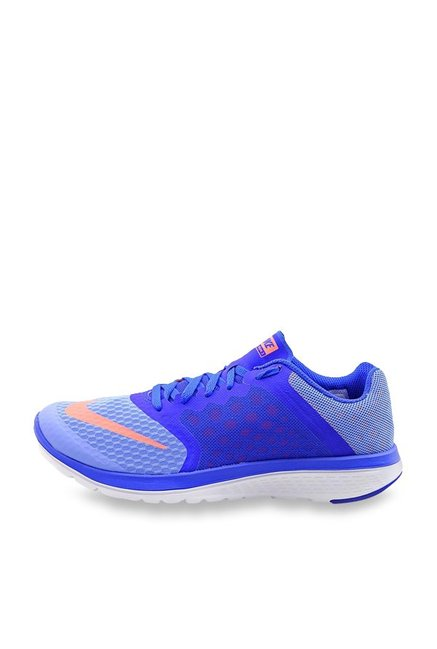 finest selection 2d086 b9283 Buy Nike FS Lite Run 3 Blue Running Shoes for Women at Best ...