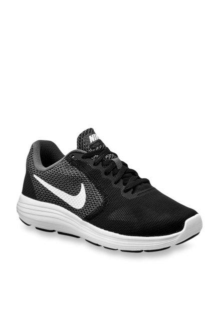 Nike Revolution 3 Black & Dark Grey Running Shoes
