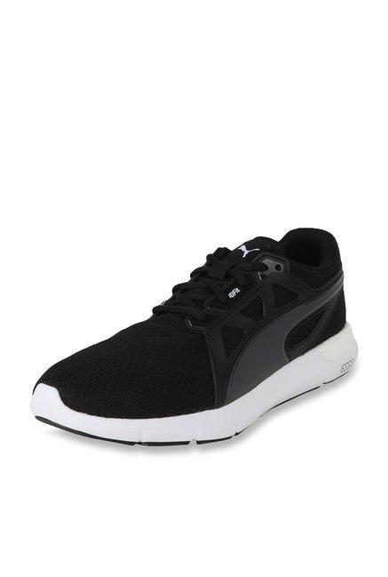 f0a587e11115 Buy Puma NRGY Dynamo Black   Asphalt Grey Running Shoes for Men at Best  Price   Tata CLiQ