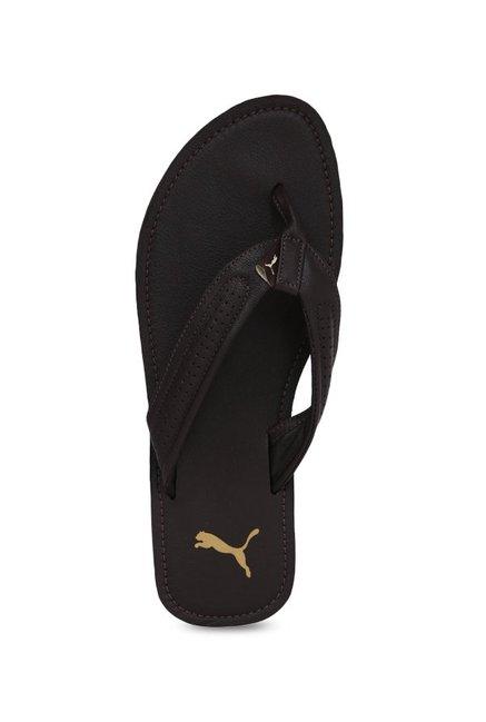 17852134cf39 Buy Puma Java NT IDP Dark Brown Flip Flops for Men at Best Price ...