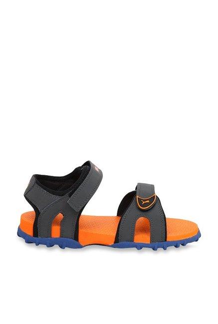 Buy Puma Track Jr DP Dark Grey   Orange Floater Sandals for Boys at Best  Price   Tata CLiQ 85df26c75