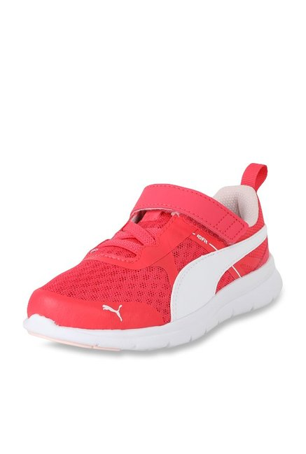 Buy Puma Flex Essential V PS Paradise Pink   White Running Shoes ... 1b6f9df0d