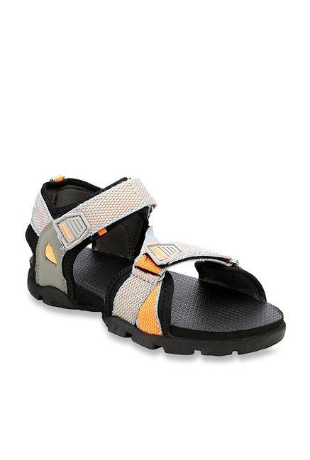 d2598a6f358 Buy Sparx Kids Light Grey   Orange Floater Sandals for Boys at Best ...