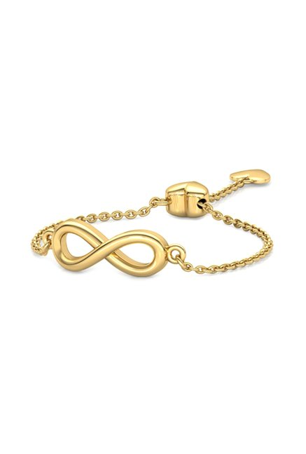 CaratLane Infinity Heart 14kt Gold Ring