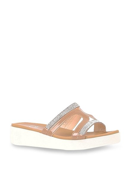 f17a76de5 Buy Carlton London Nude Casual Sandals for Women at Best Price   Tata CLiQ