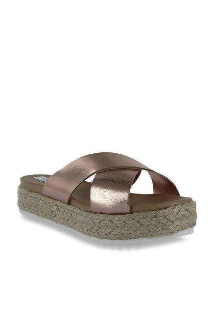 4628078022b Buy Steve Madden Aneika Rose Gold Espadrille Sandals for Women at Best  Price   Tata CLiQ