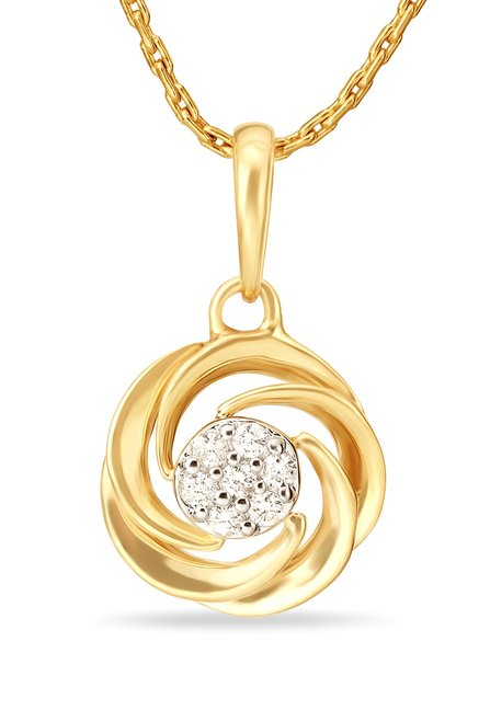 d7ad26caf Buy Tanishq 18k Gold & Diamond Pendant Online At Best Price @ Tata CLiQ