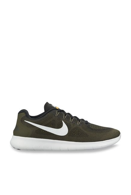 c7102012752c4 Buy Nike Free RN 2017 Olive Running Shoes for Men at Best Price   Tata CLiQ