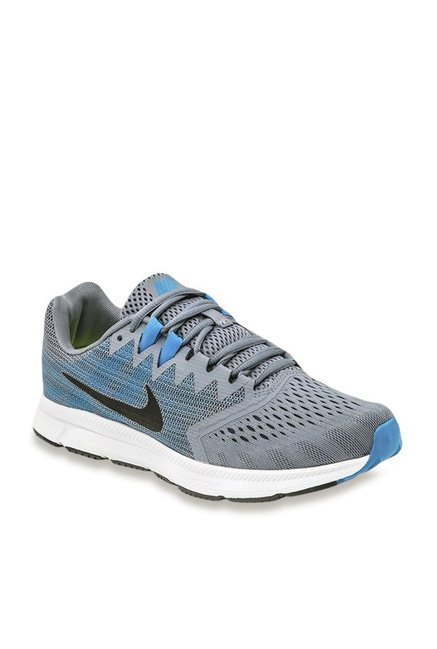 f40d37b4975 Buy Nike Zoom Span 2 Grey   Blue Running Shoes for Men at Best Price   Tata  CLiQ