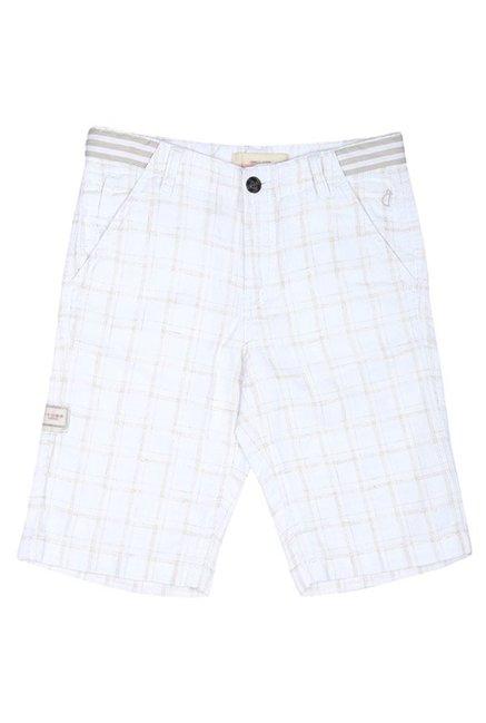 75f4de4426 Buy Gini   Jony White Plaid Bermuda for Boys Clothing Online   Tata ...