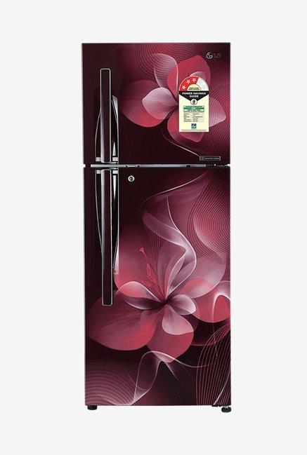 LG GL-T292RSDU 260 L 3 Star Frost Free Double Door Inverter Refrigerator, Scarlet Dazzle